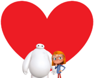 Baymax and Olympia love together