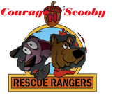 Courage n scooby rescue rangers