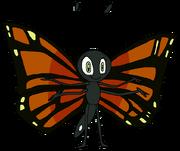 Elaine as a butterfly