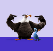 Mighty Eagle and Jewel (Boss and Assistant)