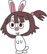 Atsuko as an European Rabbit