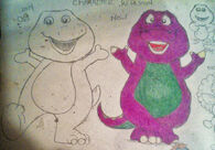 My Sketch Redesign of Barney