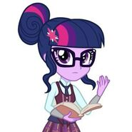 Twilight with a book.