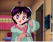 Miss Hino on the Phone cat advanture