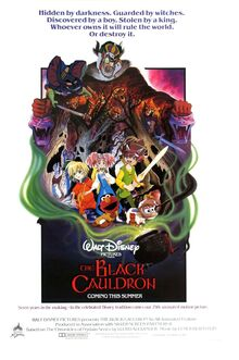 The Black Cauldron movie poster (DinosaurkingRockz Style) with ratigan as the horned king Not Merlock