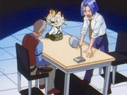 James and Meowth interrogating Warden - banned Pokemon episode scene