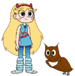 Star meets Great Horned Owl