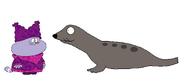 Chowder meets Harbor Seal