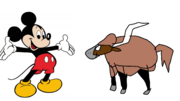 Mickey meets Domestic Yak
