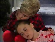 Michael and Amy fall asleep in Waiting for Santa