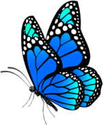 Butterfly Blue PNG Clip Art Image-397220330-1-