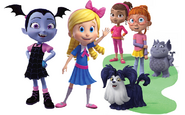 Vee, Goldie, Poppy, Bridget, Demi, Gregoria, and Wolfie