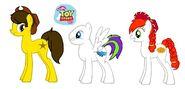 Woody, Buzz Lightyear, and Jessie MLP
