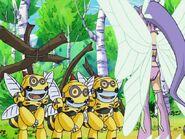 Honeybeemon Trio with Kazemon