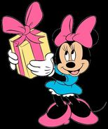 Minnie with a gift.