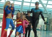 Super babies supergirl and nightwing at comikaze by trivto-d5f3j4g