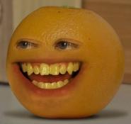 He's orange