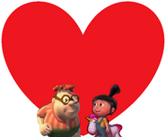 Carl Wheezer and Agnes Gru love together