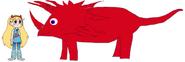 Star meets Styracosaurus