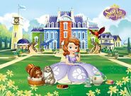 Princess Sofia drinking tea
