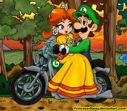 Luigi and daisy sunset ride by princesa daisy d36yeuy-fullview