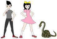 Riley and Elycia meets Green Anaconda