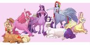 The Mane 6 as centaurs