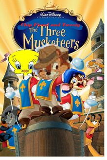 CHIP FIEV AND TWEETY- The Three Musketeers poster