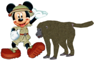Mickey meets Olive Baboon