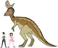 Riley and Elycia meets Lambeosaurus