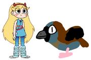 Star meets House Sparrow