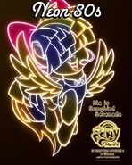 Neon 80s Songbird Serenade MLPTM Poster