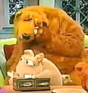 Bear and Doc Hogg crying in Bear in the Big Blue House: First Day of Mouse School