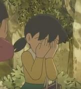 Shizuka Minamoto cries by nobita