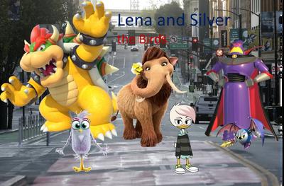 Lena and Silver the Birds