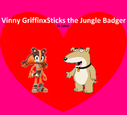 Vinny Griffin and Sticks the Jungle Badger Love
