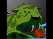 Beast Boy as a saber tooth tiger