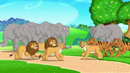 Dora the Explorer Lions Tigers and Elephants