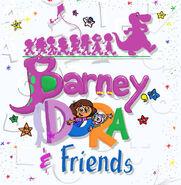 Barney dora and friends season 3 title redraw by purpledino100 dctj35f-pre