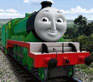 Henry the light green tender engine as Lugnut
