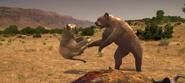 Short-faced bear vs. American lion