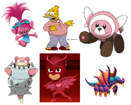 Stufful, Abraham Simpson, Princess Poppy, Owlette, Mega Slowbro & Dark Sky Dragon