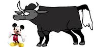 Mickey meets wild yak