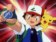 Ash gets the Fog badge