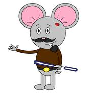 Mr. Einstein Hamster (with a saber staff activating)