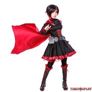 Rwby red trailer ruby rose cosplay costume06