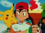 Ash takes the flame