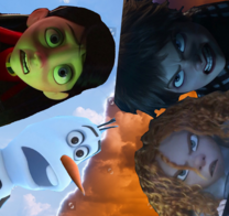 (Conflict) Violet Parr and Olaf vs Evelyn Deavor and Dr. Zara