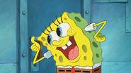 Spongebob thumbs smile
