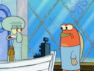 Squidward take his order